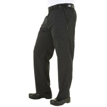 CFWPSERGSTM - Chef Works - PSER-GST-M - Gray Stripe Professional Pant (M) Product Image