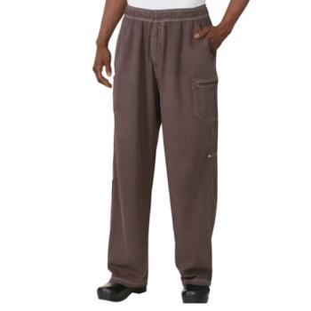 CFWUPEWCHOXS - Chef Works - UPEW-CHO-XS - Chocolate Brown Enzyme Utility Pants (XS) Product Image