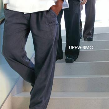 81970 - Chef Works - UPEW-SMO-L - Smoke Gray Enzyme Utility Pants (L) Product Image