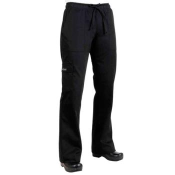 CFWCPWOBLK2XL - Chef Works - CPWO-BLK-2XL - Women's Black Cargo Chef Pants (2XL) Product Image