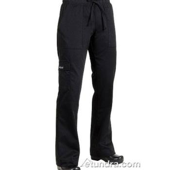 81908 - Chef Works - CPWO-BLK-L - Women's Black Cargo Chef Pants (L) Product Image