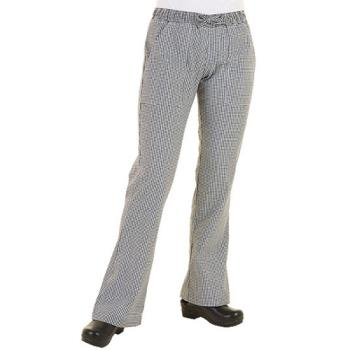 CFWWBAWM - Chef Works - WBAW-M - Women's Checked Chef Pants (M) Product Image
