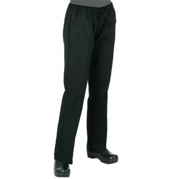 CFWWBLKL - Chef Works - WBLK-L - Women's Black Chef Pants (L) Product Image