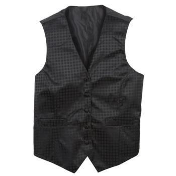 CFWVPW5BK3L - Chef Works - VPW5-BK3-L - Women's Black Polka Dot Vest (L) Product Image