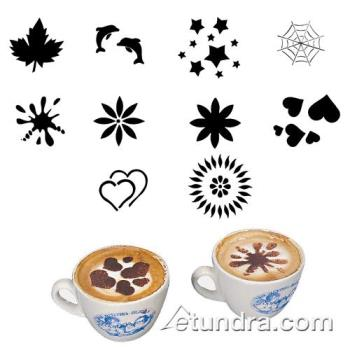 WOR4785901 - World Cuisine - 47859-01 - 10-Piece Cappuccino Assorted Stencil Set Product Image
