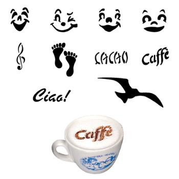 WOR4785902 - World Cuisine - 47859-02 - 10-Piece Cappuccino Fun Stencil Set Product Image