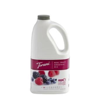 TOR900157 - Torani - 900157 - 64 oz Real Fruit Smoothie Wildberry Mix Product Image