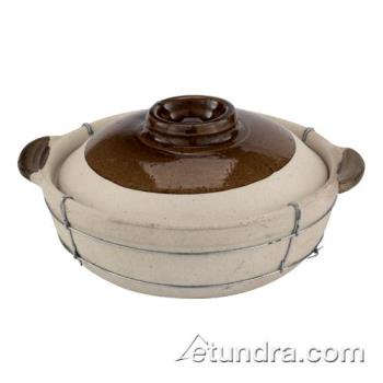 "WOR4963232 - World Cuisine - 49632-32 - 11"" Dual-Handled Clay Cooking Pot Product Image"