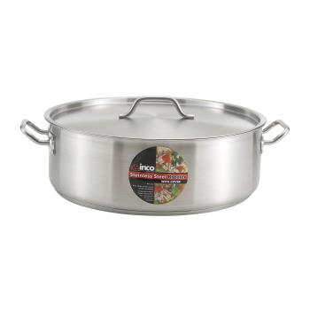 WINSSLB25 - Winco - SSLB-25 - 25 qt Stainless Steel Brazier Product Image