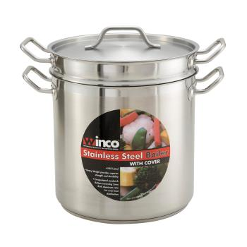 WINSSDB16 - Winco - SSDB-16 - 16 qt Stainless Steel Double Boiler Product Image