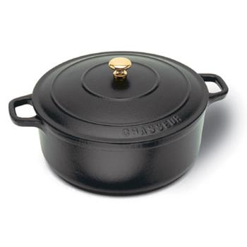 WORA1737016 - World Cuisine - A1737016 - Chasseur 1 3/4 qt Black Dutch Oven Product Image