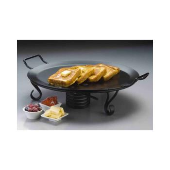 AMMGS18 - American Metalcraft - GS18 - 18 in Round Wrought Iron Griddle with Stand Product Image