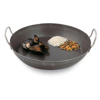 WORA4171736 - World Cuisine - A4171736 - 14 1/8 in Black Steel Paella Pan Product Image