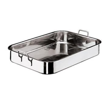 WOR1194361 - World Cuisine - 11943-61 - 17 in x 24 in Stainless Steel Roasting Pan Product Image