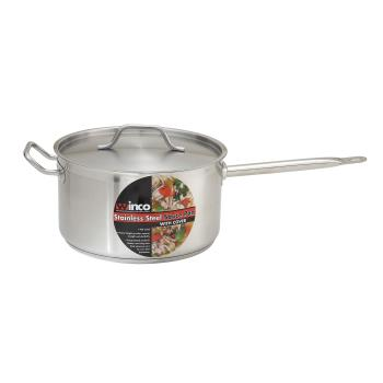 WINSSSP10 - Winco - SSSP-10 - 10 qt Stainless Steel Sauce Pan Product Image