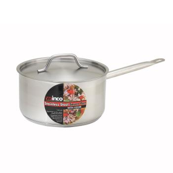 WINSSSP6 - Winco - SSSP-6 - 6 qt Stainless Steel Sauce Pan Product Image