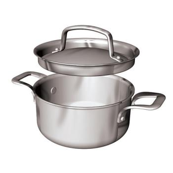 WOR1250912 - World Cuisine - 12509-12 - .7 qt Stainless Steel Mini Sauce Pot Set Product Image