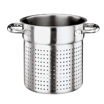 WOR1112328 - World Cuisine - 11123-28 - Grand Gourmet 11 in Stainless Steel Stock Pot Colander Product Image