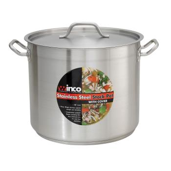 WINSST20 - Winco - SST-20 - 20 qt Stainless Steel Stock Pot Product Image