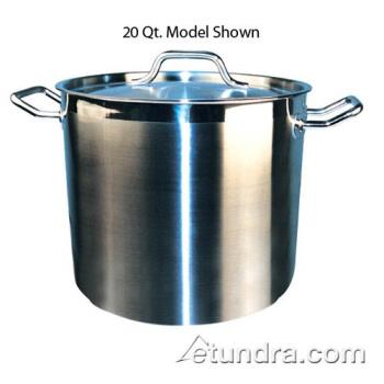 WINSST24 - Winco - SST-24 - 24 qt Stainless Steel Stock Pot  Product Image
