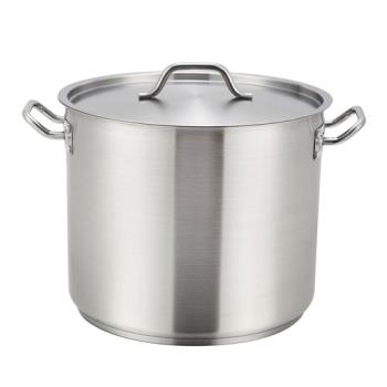 WINSST32 - Winco - SST-32 - 32 qt Stainless Steel Stock Pot Product Image