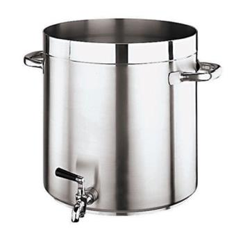 WOR1110228 - World Cuisine - 11102-28 - Grand Gourmet 17 1/2 qt Stainless Steel Stock Pot Product Image