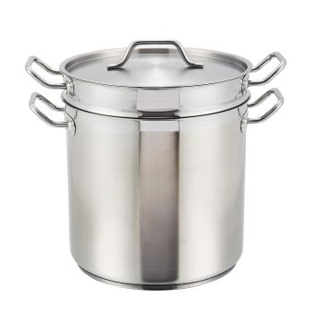WINSSDB16S - Winco - SSDB-16S - 16 qt Stainless Steel Steamer Product Image
