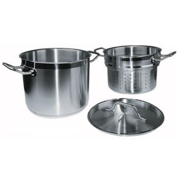WINSSDB20S - Winco - SSDB-20S - 20 qt Stainless Steel Steamer Product Image