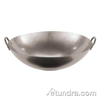 "WOR4960546 - World Cuisine - 49605-46 - 18"" Dual-Handled Steel Chinese Wok Product Image"