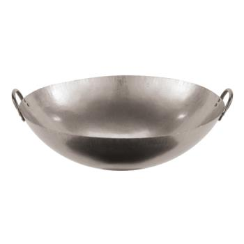 "WOR4960561 - World Cuisine - 49605-61 - 24"" Dual-Handled Steel Chinese Wok Product Image"