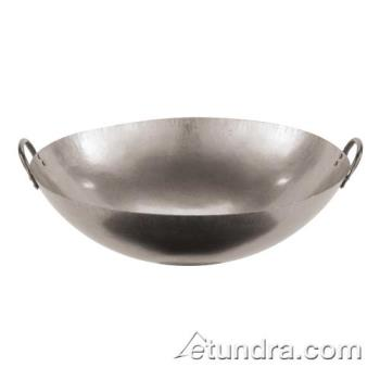 "WOR4960571 - World Cuisine - 49605-71 - 28"" Dual-Handled Steel Chinese Wok Product Image"
