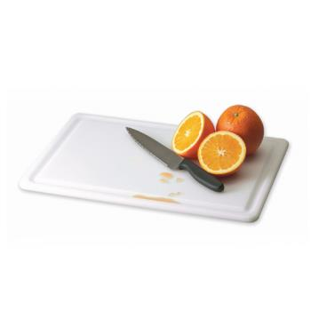 SANCB121812GVWH - San Jamar - CB121812GVWH - Kolor-Cut 12 in (W) x 18 in (L) Grooved Cutting Board Product Image
