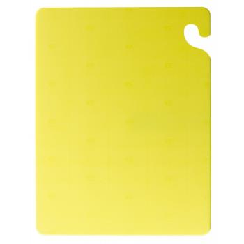 76436 - San Jamar - CB121812YL - 12 in x 18 in x 1/2 in Yellow Cutting Board Product Image