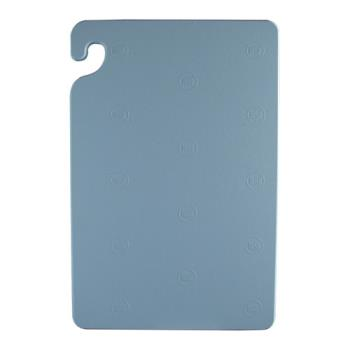SANCB152012BL - San Jamar - CB152012BL - Cut-N-Carry 15 in (W) x 20 in (L) x 1/2 in (H) Blue Cutting Board Product Image