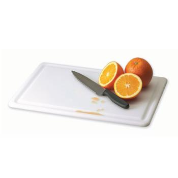 SANCB152012GVWH - San Jamar - CB152012GVWH - Kolor-Cut 15 in x 20 in Grooved Cutting Board Product Image