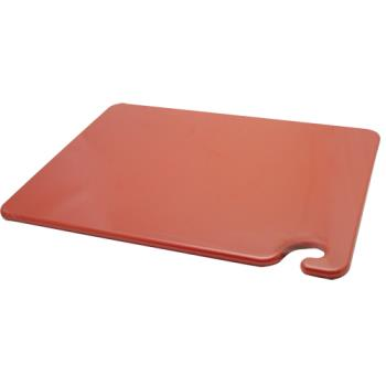 86083 - San Jamar - CB152012RD - 15 in x 20 in x 1/2 in Red Cutting Board Product Image