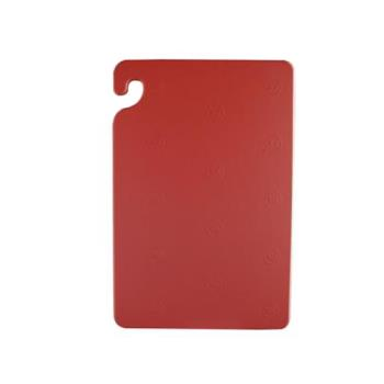 SANCB182412RD - San Jamar - CB182412RD - Cut-N-Carry 18 in (W) x 24 in (L) x 1/2 in (H) Red Cutting Board Product Image