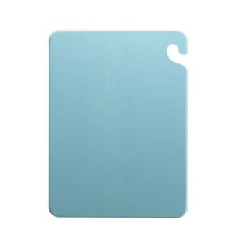 SANCB182434BL - San Jamar - CB182434BL - Cut-N-Carry 18 in (W) x 24 in (L) x 3/4 in (H) Blue Cutting Board Product Image
