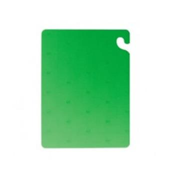 SANCB182434GN - San Jamar - CB182434GN - Cut-N-Carry 18 in (W) x 24 in (L) x 3/4 in (H) Green Cutting Board Product Image