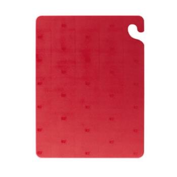 SANCB182434RD - San Jamar - CB182434RD - Cut-N-Carry 18 in (W) x 24 in (L) x 3/4 in (H) Red Cutting Board Product Image
