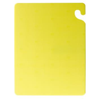 SANCB182434YL - San Jamar - CB182434YL - Cut-N-Carry Yellow Cutting Board Product Image