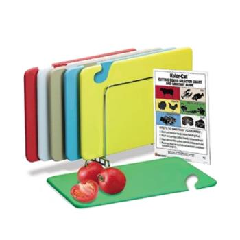 86104 - San Jamar - CB1824KC - 18 in x 24 in x 1/2 in 6 Piece Cutting Board Set Product Image