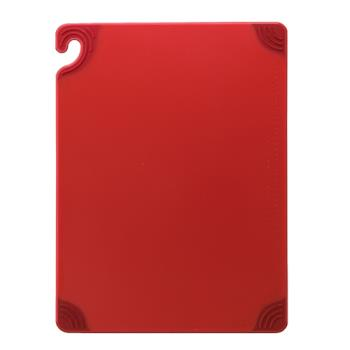SANCBG121812RD - San Jamar - CBG121812RD - Saf-T-Grip 12 in (W) x 18 in (L) x 1/2 in (H) Red Cutting Board Product Image
