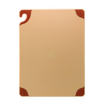 SANCBG152012BR - San Jamar - CBG152012BR - Saf-T-Grip 15 in (W) x 20 in (L) x 1/2 in (H) Brown Cutting Board Product Image