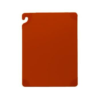 SANCBG152012RD - San Jamar - CBG152012RD - Saf-T-Grip 15 in x 20 in x 1/2 in Red Cutting Board Product Image