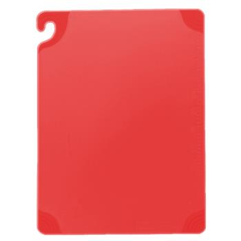 86134 - San Jamar - CBG182412RD - 18 in x 24 in x 1/2 in Red Cutting Board Product Image