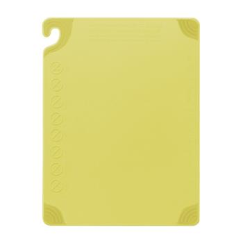 86119 - San Jamar - CBG182412YL - 18 in x 24 in x 1/2 in Yellow Cutting Board Product Image