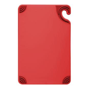 86078 - San Jamar - CBG912RD - 9 in x 12 in x 3/8 in Red Cutting Board   Product Image