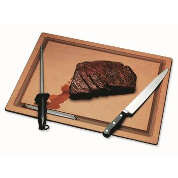 SANTC121812GV - San Jamar - TC121812GV - Tuff-Cut 12 in x 18 in x 1/2 in Grooved Cutting Board Product Image