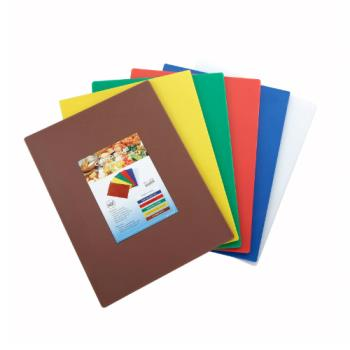 WINCBST1218 - Winco - CBST-1218 - 12 in x 18 in x 1/2 in 6 Piece Cutting Board Set Product Image